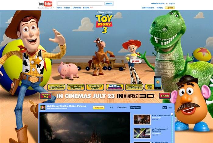 William Cole Online Portfolio Toy Story 3 Youtube Marketing